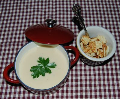 Whisk Cauliflower Soup and Elwood July BDs 052