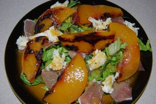 Swim lessons and twd chocolate tarte and grilled peach salad 055