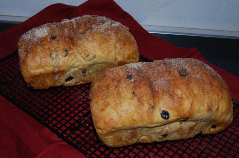 TWD espresso brownies; BBA CinRaisin Bread 015