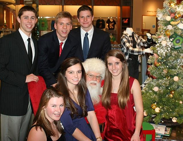 IMG_1306 Dec 23 2009 Dan's photo of six kids on Santa's lap