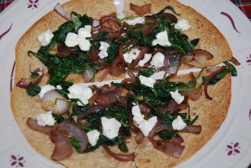 CEiMB Arugula, Onion, Goat Cheese Pizza 006