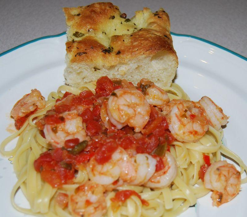 BBA Focaccia; TWD CocoNana Bread; CI Shrimp & Tomatoes 044