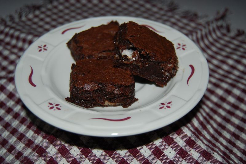 TWD mint brownies cut 002