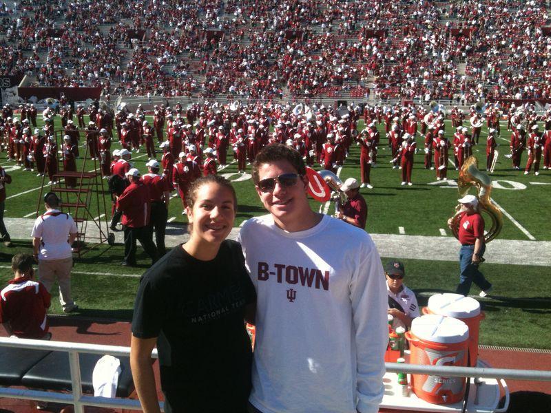 Matt and Lauren IU Homecoming 10-16-10
