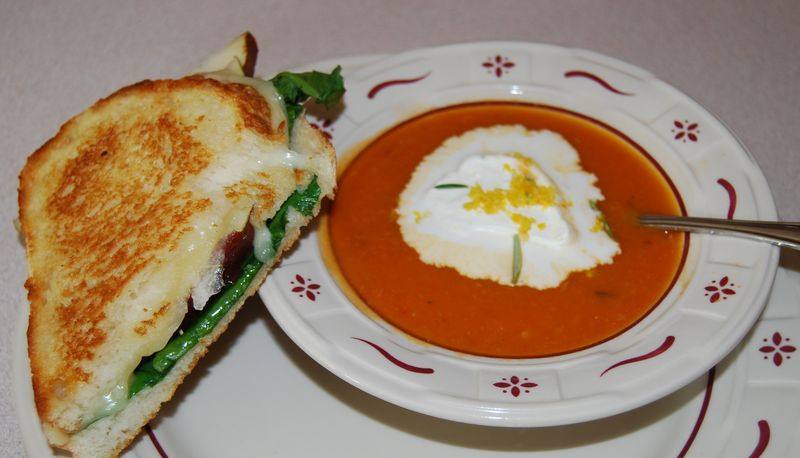 Giada Tom Soup Grilled Pear Taleggio Sandwich 002