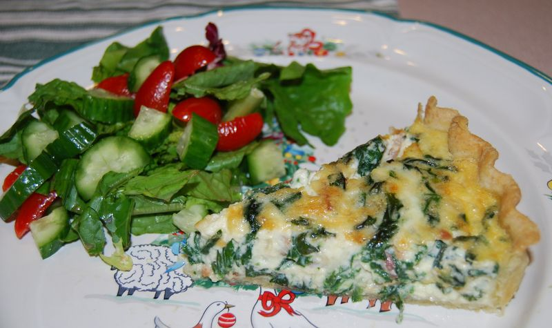 Bake! Spinach & Bacon Tart 034