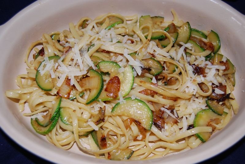 30 Minute Pasta Linguine and Zucchini and Matt Indian Butter Cx 015