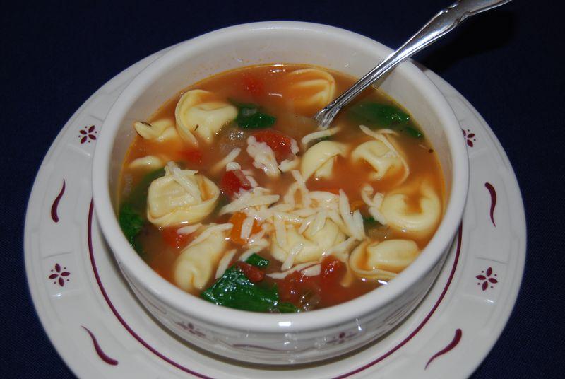 CEiMB Tortellini Spinach Soup 014