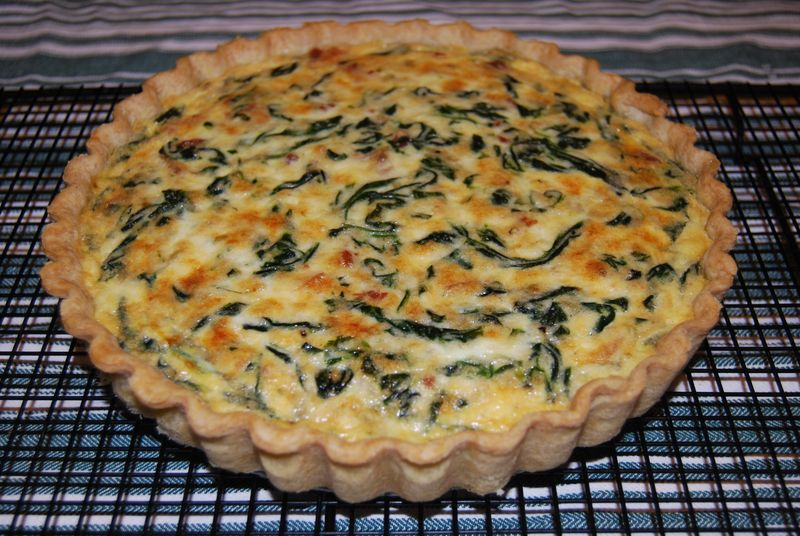 Bake! Spinach & Bacon Tart 027
