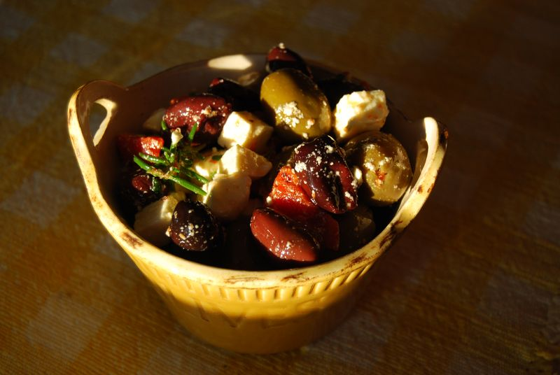 Ad Hoc Marinated Feta with Olives 001