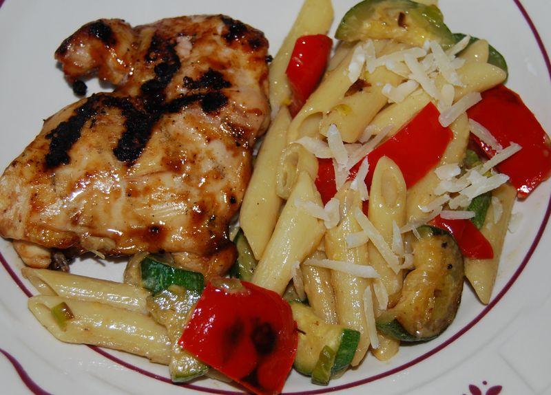 30 Min Thurs Zucchini Pepper Leek Pasta 006