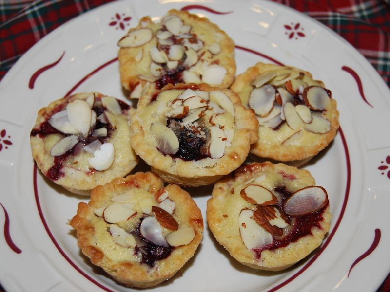 Tapenade Fan Rolls and MB Blackberry Tartlets 014