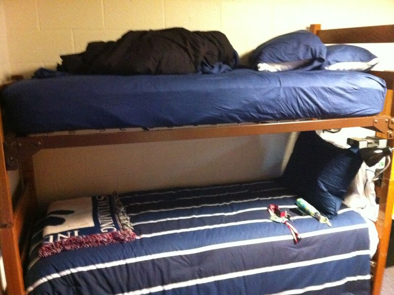 Matt and Ian's beds in dorm room August 2011
