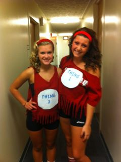 Reyn Thing 2 and Thing 1 with Ashley