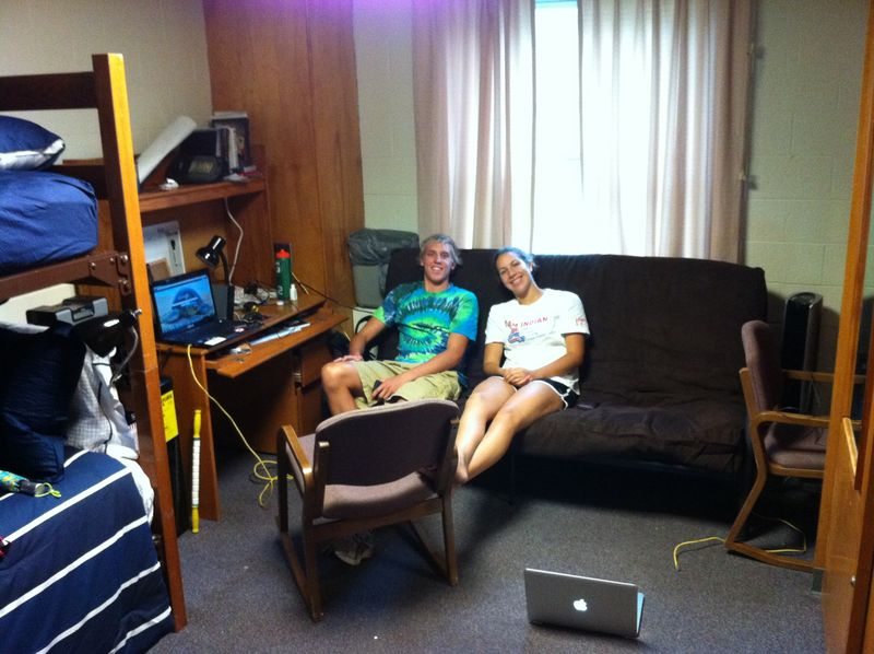 Ian and Lauren in dorm room August 2011