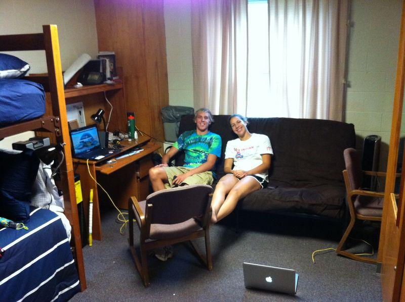 Ian and Lauren in dorm room August 2011