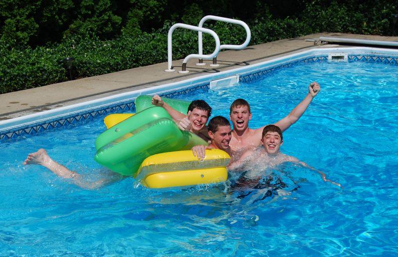 Swimming in pool May 31, 2011 011