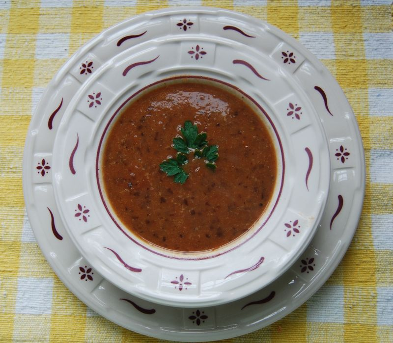 Ellie's Roasted Tom Black Bean Soup 029