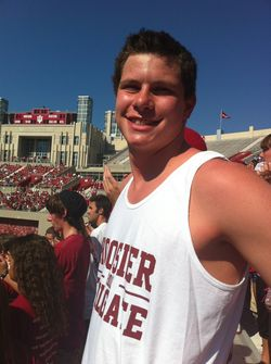 Matt at IU Football v Illinois Oct 8 2011