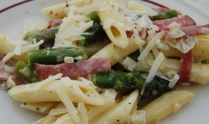 30 Minute Pasta Penne Asp Proscuitto 005