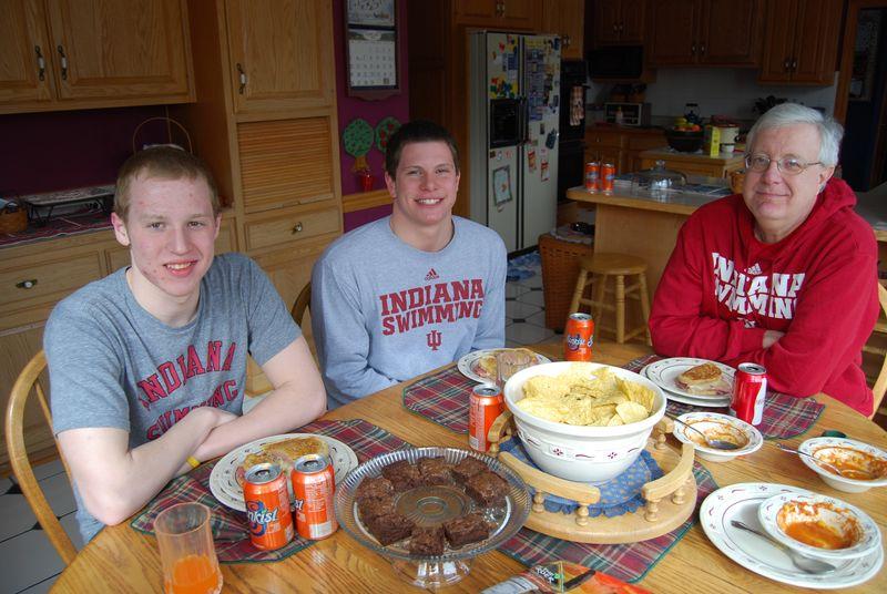 Matt and Logan for breakfast 002