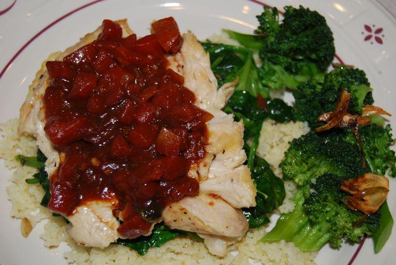 Ellie Balsalmic Chicken and Garlic Broccoli 021