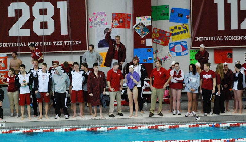IU Swim Meet vs Purdue January 21, 2012 and senior banquet 009