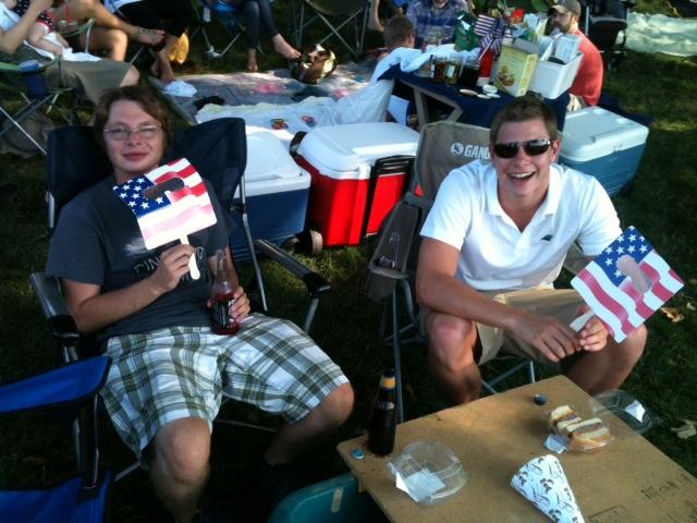 Alex and Matt at Symphony on Prairie July 4, 2012