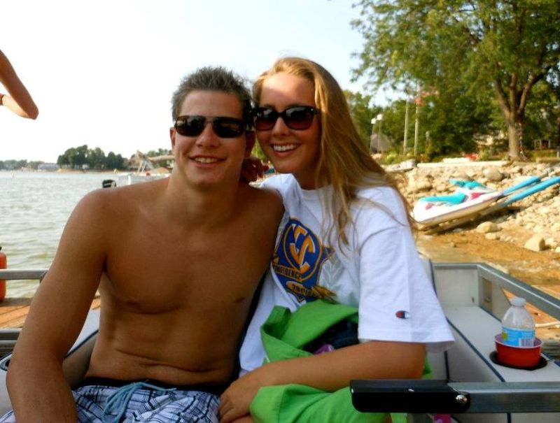 Matt and Trish Regan at Kiernan's lake house July 2012