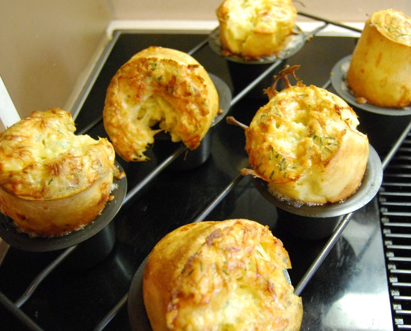 Gruyere and Chive Popovers 007