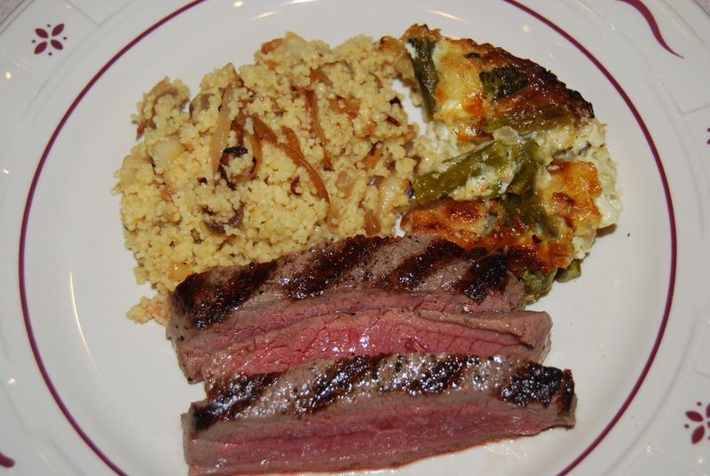 NM Bread Pudding and WWDH Steak and Couscous 030