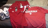 Matt's IU clothes Fall 2012 3 tees, 1 polo, shorts, pants, shoes