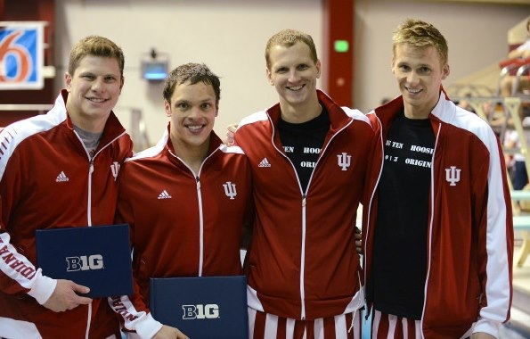 Big Tens - Matt with All Big Ten Award March 2013