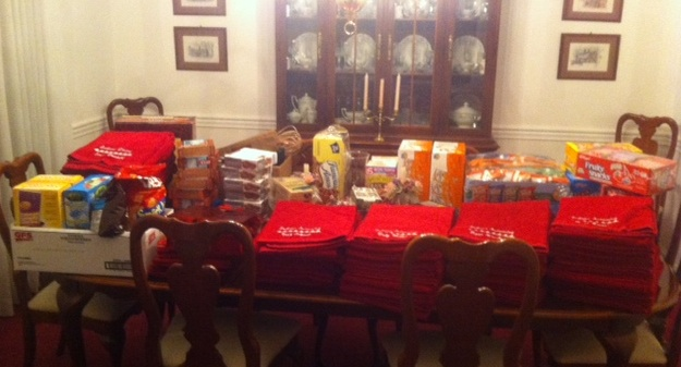 Big Tens - Goody Bags ready for assembling