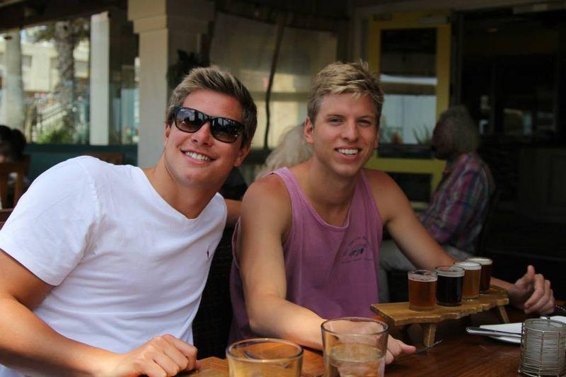 Matt and Daniel at US Open out for dinner on Matt's 21st birthday