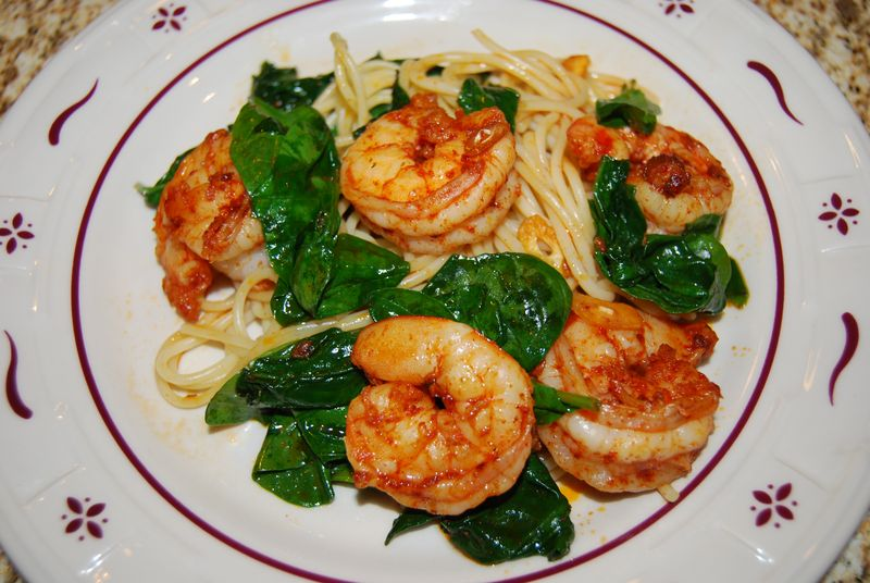Ellie Shrimp with Spinach 011
