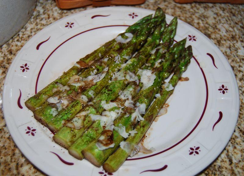 Ewe fajita WWDH Asian Greens, WWDH Asparagus with butter 052