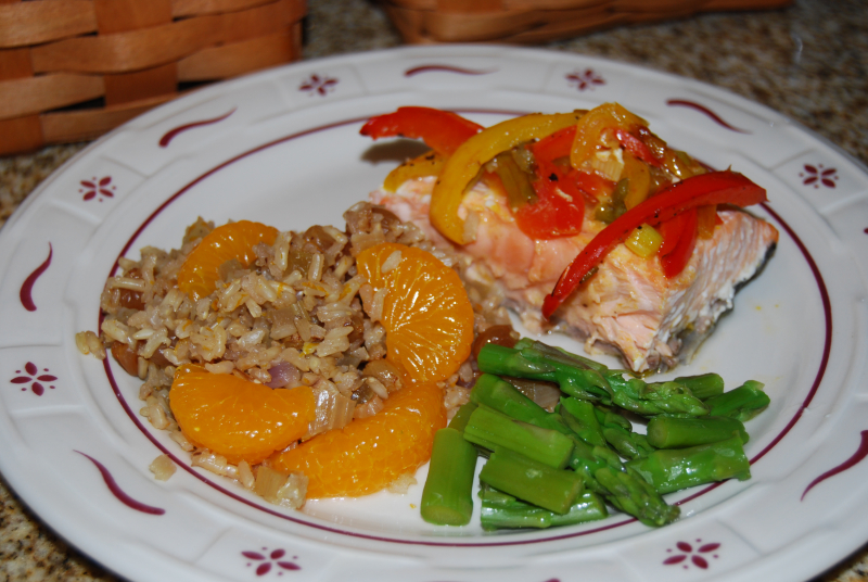 Cc salmon packets and brown rice 011