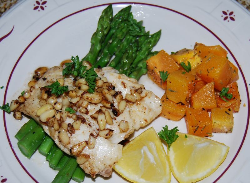 WWDH Fish in Brown Butter and Pine Nuts 024