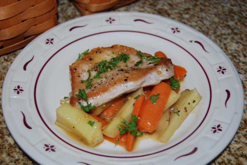 IHCC lemon, CC Salmon, EwE pork chops, misc 004